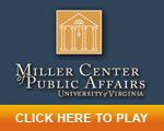 Eric and Thom at the University of Virginia's Miller Center